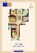 卓悦城・北京未3室2厅2卫107平方米户型图