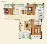 中建观湖国际3室2厅2卫128平方米户型图