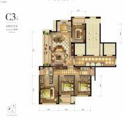 新希望・白麓城4室2厅2卫136平方米户型图