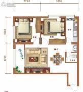 金和大厦2室2厅1卫90平方米户型图