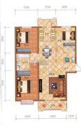 檀香湾3室2厅1卫133平方米户型图