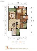 富力湾2室2厅2卫79--89平方米户型图