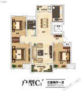 建业北海森林半岛3室2厅1卫114平方米户型图