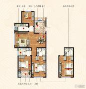 九洲金东方3室2厅2卫129平方米户型图