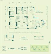 昊海梧桐4室2厅2卫182--184平方米户型图