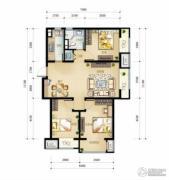 万科金域缇香3室2厅1卫105平方米户型图