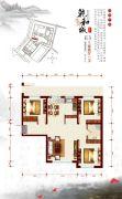 乾和城3室2厅1卫105平方米户型图
