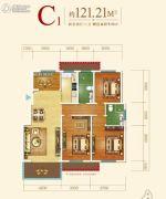 王老太君悦湾4室2厅2卫121平方米户型图