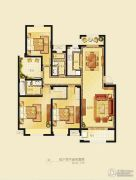 金洋奥澜半岛3室2厅2卫129平方米户型图