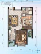 华海・蓝境2室1厅1卫64平方米户型图