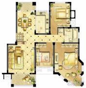 诚河新旅城3室2厅1卫103平方米户型图