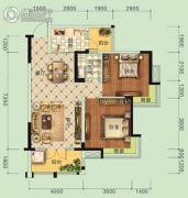 宏信・公园里3期2室2厅1卫89平方米户型图