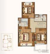 新城源山3室2厅3卫156平方米户型图
