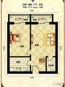 恒泰公馆1室1厅1卫59平方米户型图