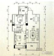 东港绿洲2室2厅1卫98平方米户型图