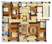 中企艮山府5室2厅4卫280平方米户型图