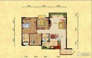 滨江外滩3室2厅2卫105平方米户型图