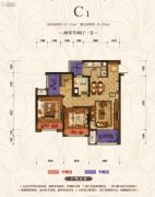 首创城2室2厅1卫67平方米户型图