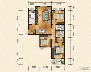 汉成华都3室2厅2卫157平方米户型图