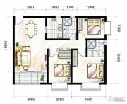 山海城邦・马街摩尔城3室2厅2卫110平方米户型图