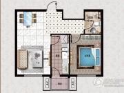 行宫・御东园1室1厅1卫74平方米户型图