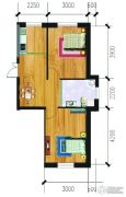 万泉・欧博城1室1厅1卫61平方米户型图