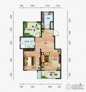 芭东海城1室2厅1卫74平方米户型图
