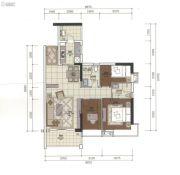 正太广场3室2厅2卫92平方米户型图