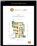 龙湖春森彼岸四期4室2厅2卫120平方米户型图