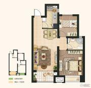 东亚御景湾2室2厅1卫73平方米户型图