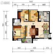 晟大海湾城3室2厅1卫0平方米户型图