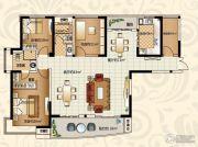 恒大绿洲3室2厅2卫165平方米户型图