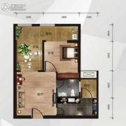 中南明珠1室1厅1卫52平方米户型图