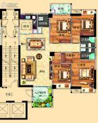 鸿泰华府4室2厅3卫167平方米户型图