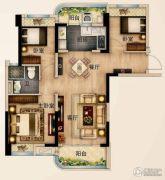 碧桂园城市花园3室2厅1卫88--95平方米户型图