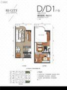 侨建・HI CITY3室2厅2卫87平方米户型图