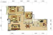 中铁骑士府邸4室2厅2卫90平方米户型图