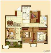 城开・观云3室2厅1卫89--92平方米户型图