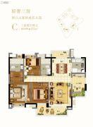 广州绿地城3室2厅2卫115平方米户型图