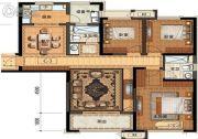长申玉3室2厅2卫135平方米户型图