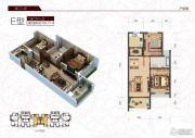 春江人家2室2厅1卫100平方米户型图