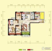 天居锦河丹堤4室2厅2卫141平方米户型图