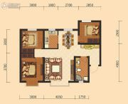 伊水湾3室2厅1卫96平方米户型图