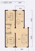 渤海龙江花园2室1厅1卫0平方米户型图