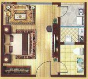 和信书香苑1室1厅1卫37平方米户型图