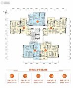 胜利茶博城3室2厅2卫111平方米户型图