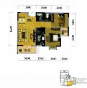 奥山世纪城2室2厅1卫87平方米户型图
