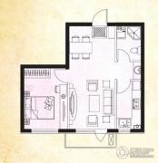 美辰香醒1室1厅1卫0平方米户型图