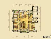 益田枫露3室2厅2卫126平方米户型图