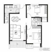 海岸城・郦园2室2厅1卫83平方米户型图